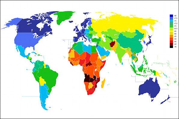 نرخ امید به زندگی در ترکیه