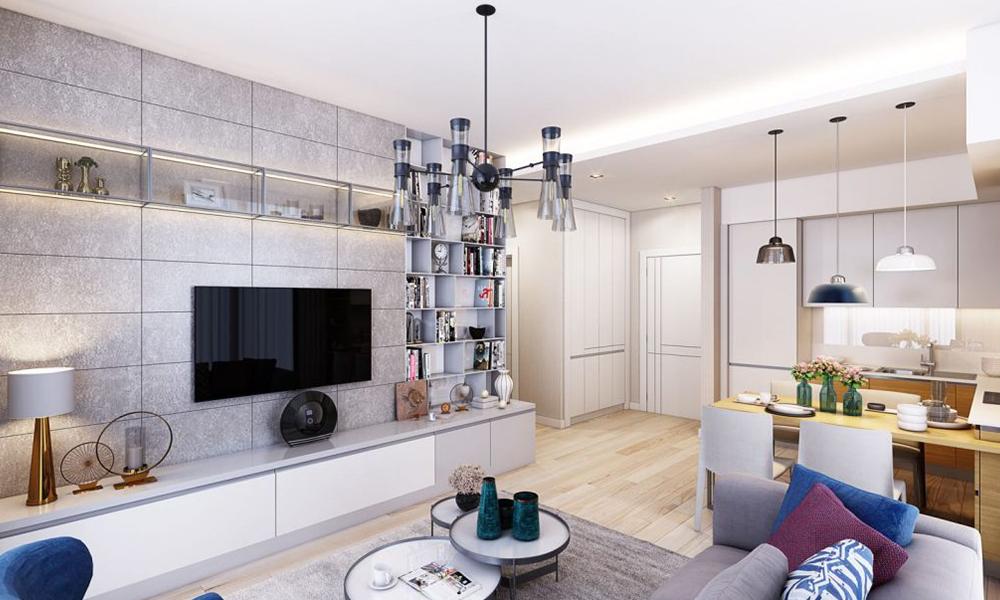 فضای داخلی پروژه آپارتمانی