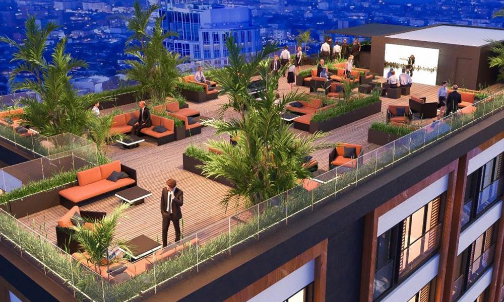 نمای روف گاردن پروژه استانبول