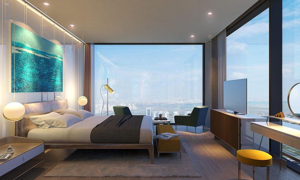 اتاق خوب با دیوار های شیشه ای
