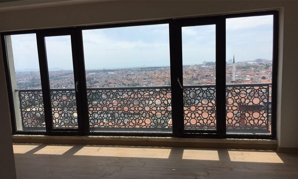 تراس خانه خلیجی در استانبول