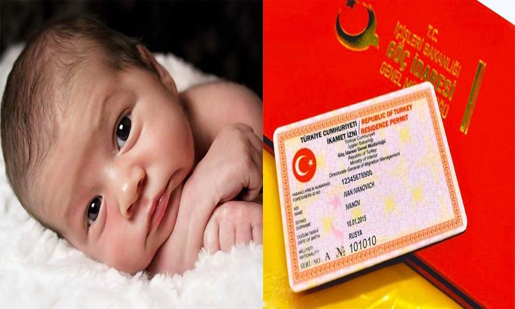 دریافت اقامت ترکیه با تولد