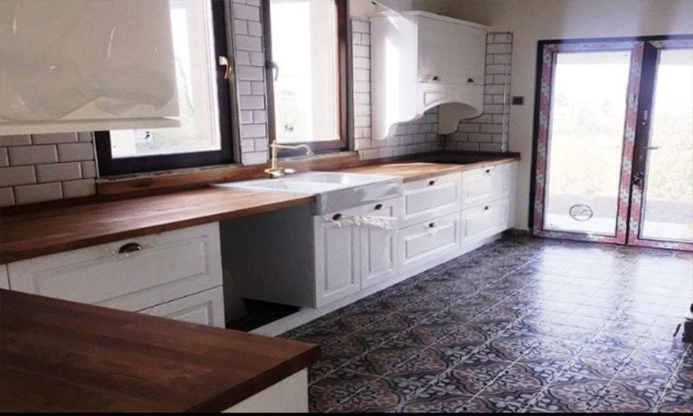 آشپزخانه با کابینت جدید