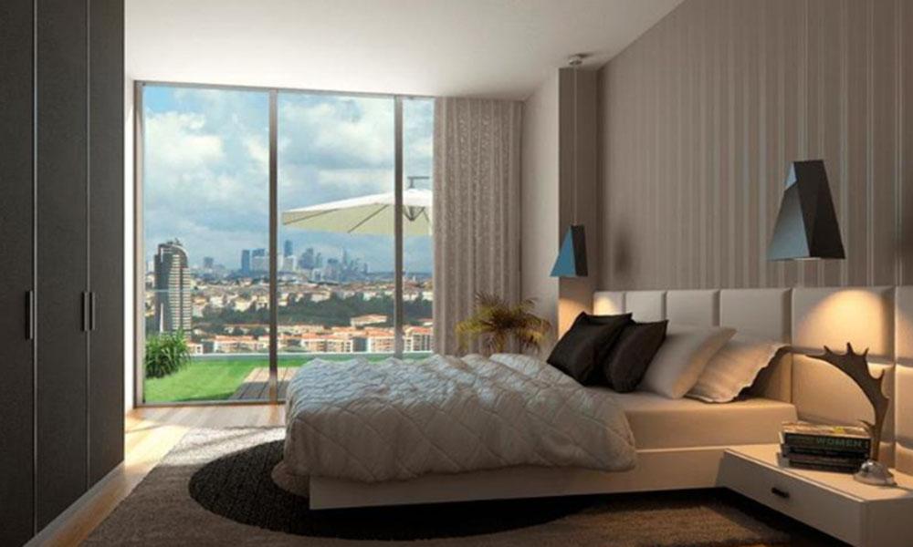 اتاق خواب با ویوو دریا