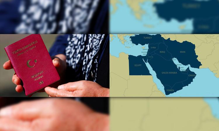 اعتبار پاسپورت ترکیه در خاورمیانه و اقیانوسیه