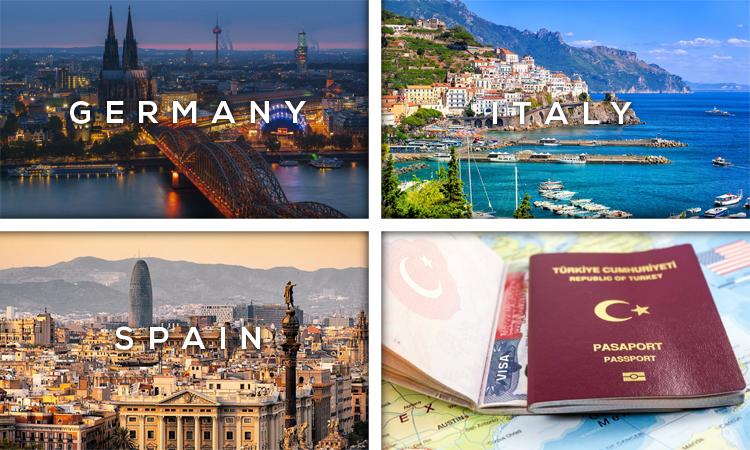 کشورهای بدون ویزا با پاسپورت ترکیه